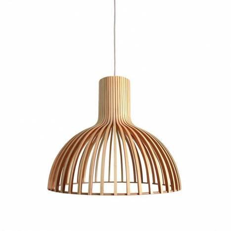 Lámpara colgante Savoy 1 luz bambu - Sulion