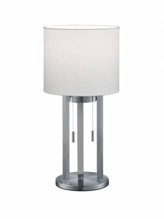 TRIO Tandori LED white fabric table lamp
