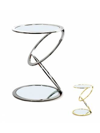 SCHULLER side table Aros glass + steel