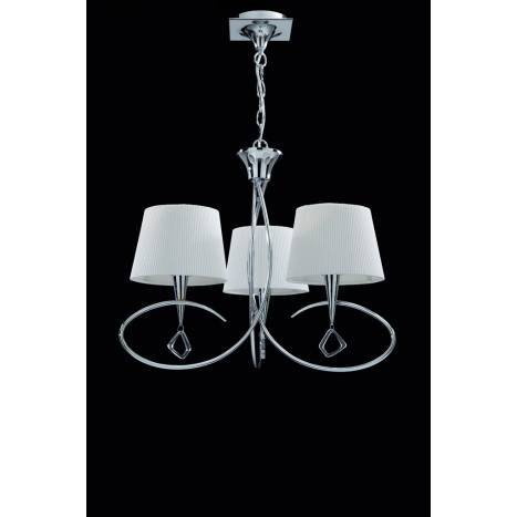 MANTRA Mara pendant lamp 64cm 3L chrome white