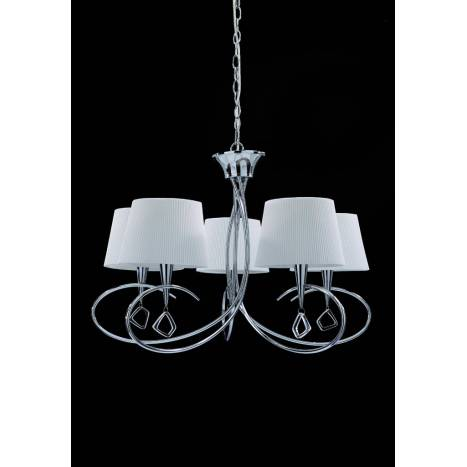 MANTRA Mara pendant lamp 5L chrome white
