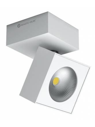Foco de superficie Rubyc LED 15w metal blanco de Beneito Faure