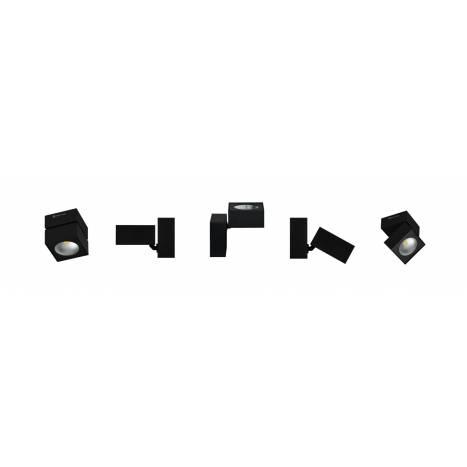 Foco de superficie Rubyc LED 15w metal negro de Beneito Faure