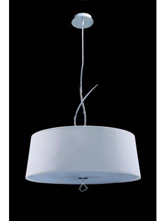 MANTRA Mara pendant lamp 4L chrome white