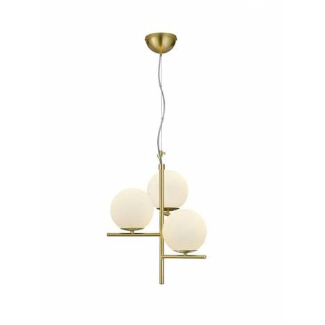 TRIO Pure 3L E14 glass pendant lamp
