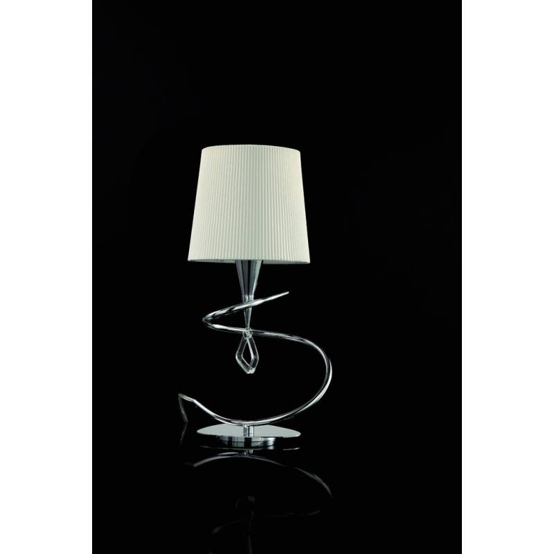 MANTRA Mara table lamp 1L chrome white