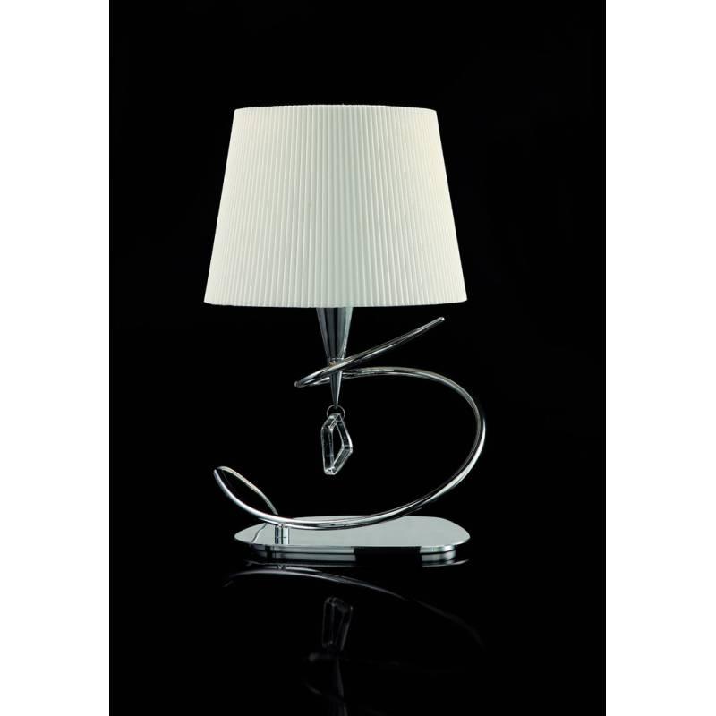 Sobremesa mara 1 luz 46cm cromo tela blanca mantra for Lampes de salon a poser