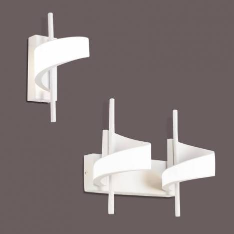 Aplique de pared Tsunami LED aluminio blanco - Mantra