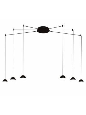Lámpara colgante Custo 6L LED negro - ACB