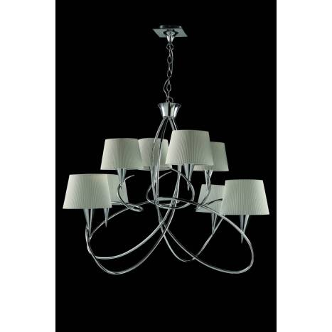 MANTRA Mara pendant lamp 8L chrome white