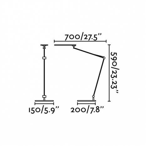 Flexo Ito LED 5w regulable + pinza - Faro