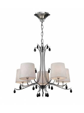 Lámpara colgante Andrea 5L E14 - Mantra