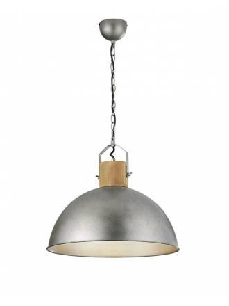 Lámpara colgante Delhi 1L E27 madera - Trio