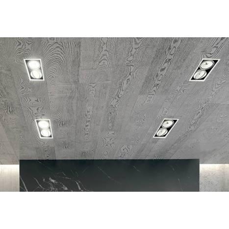 BPM Kuvet recessed light LED 2x10w white aluminium