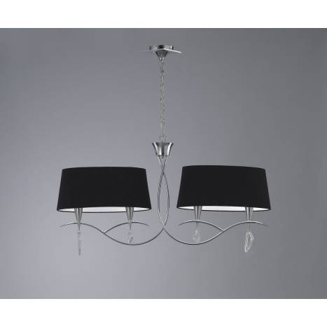 Mantra Mara pendant lamp linear double 4L chrome black