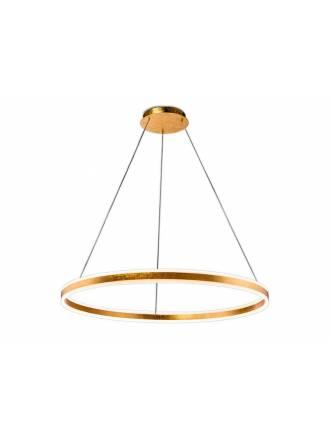 SCHULLER Helia LED gold leaf pendant lamp