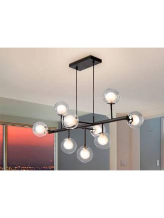 Lámpara colgante Altais LED 9L aluminio - Schuller