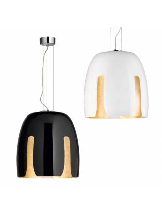 TRIO Madeira E27 glass pendant lamp