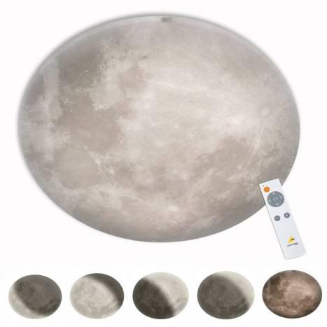 Plafón de techo Lunar LED regulable + mando - Trio