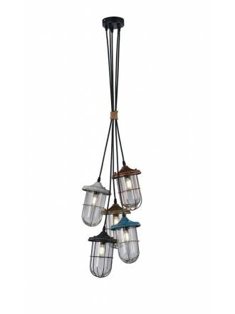 TRIO Birte 5L E27 pendant lamp