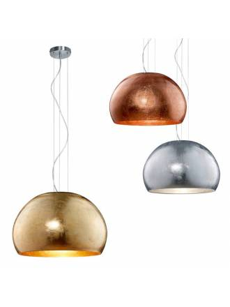 TRIO Ontario 51cm glass pendant lamp