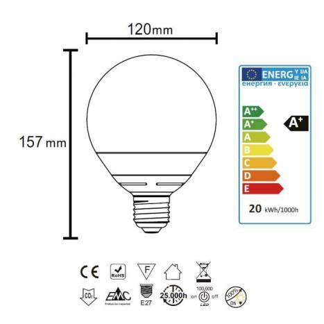 MANTRA LED E27 bulb 22w G120 globe