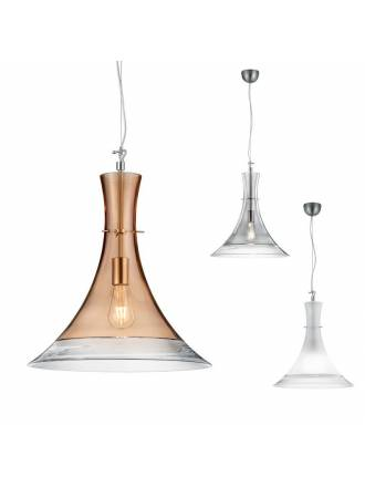 TRIO Almada 45cm glass pendant lamp