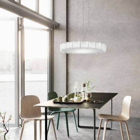 OLE by FM Sweet pendant lamp white fabric