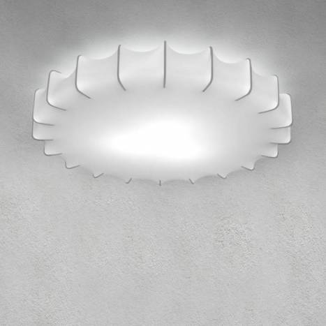OLE by FM Sweet ceiling lamp 60cm white fabric