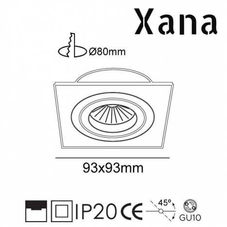 XANA Nalon GU10 360° recessed light black
