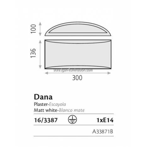 Aplique de pared Dana escayola - ACB