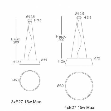 OLE by FM Drum 60-80cm pendant lamp cord