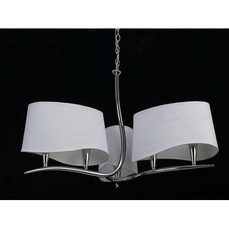 Mantra Ninette pendant lamp 6L chrome white lampshade