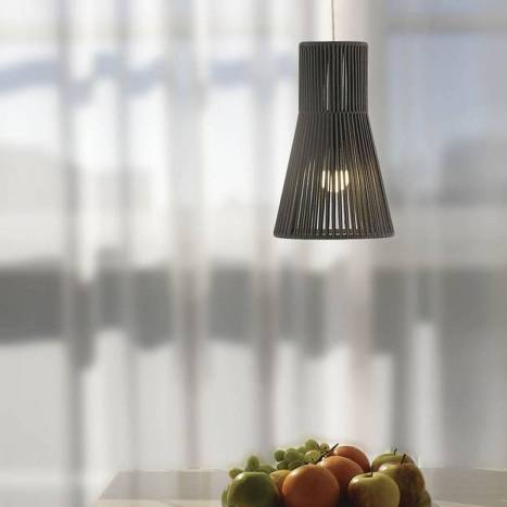 Lámpara colgante Kora 1L E27 cuerda - Ole