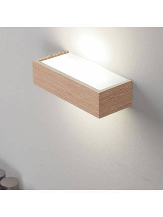 OLE Kube E27 wall lamp wood
