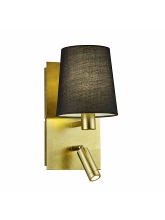 TRIO Marriot wall lamp E14 + LED gold