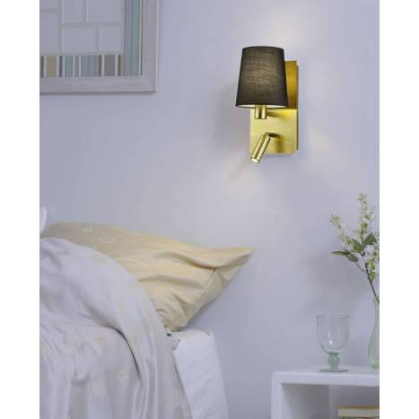 Aplique de pared Marriot E14 + LED oro - Trio