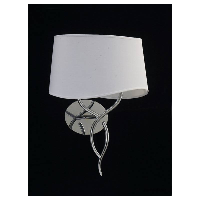 Mantra Ninette wall lamp 2L chrome white lampshade