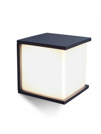 LUTEC Box Cube E27 IP44 wall lamp