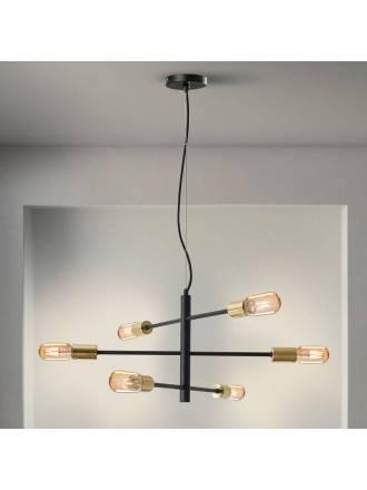 Lámpara colgante Soho 6L E27 - Schuller