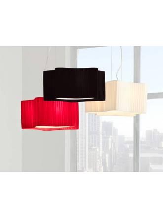 ILUSORIA Ribon 3L pleated fabric pendant lamp