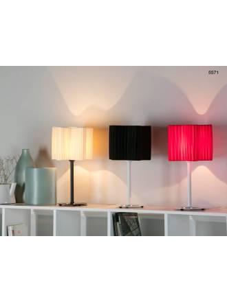 Lámpara de mesa Ribon 1L tela plisada - Ilusoria