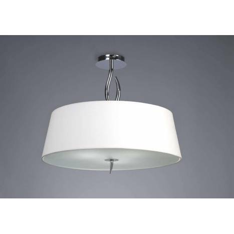 Mantra Ninette Semiceiling lamp 4L E27 chrome white lampshade