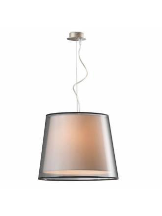 Lámpara colgante Kombinator 3L tela - Ilusoria