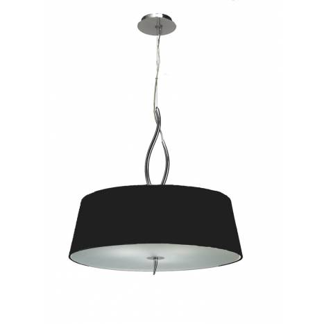 Mantra Ninette pendant lamp 4L E27 chrome lampshade black