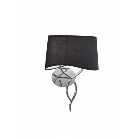 Mantra Ninette wall lamp 2L E14 chrome lampshade black