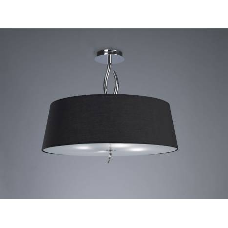 Mantra Ninette semiceiling lamp 4L E27 chrome lampshade black