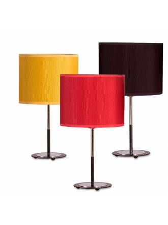 ILUSORIA Madras 1L E27 fabric table lamp