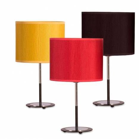 ILUSORIA Madras 1L E27 fabric table lamp