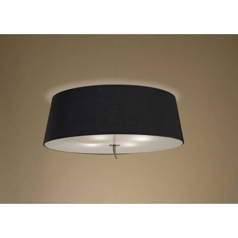Mantra Ninette lamp 4L E27 lampshade black chrome